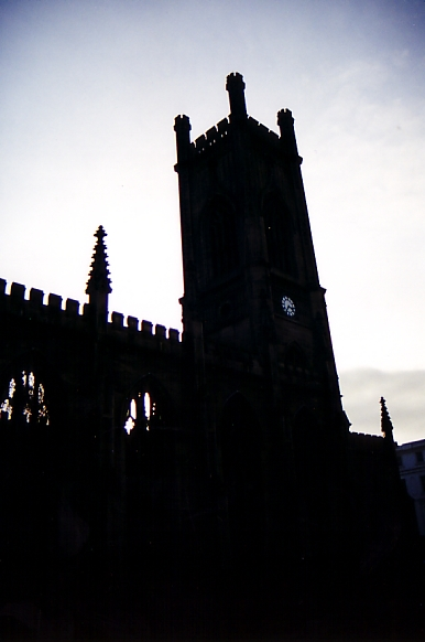 bombed church